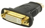HDMI adaptér s konektory HDMI–DVI zásuvka,černý