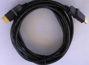 HDMI/HDMI TV kabel MK Floria s otočnými konektory 1,8m