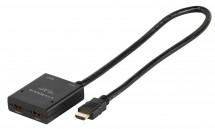 HDMI plug/2xHDMI socket Vivanco 1x2 0,5m