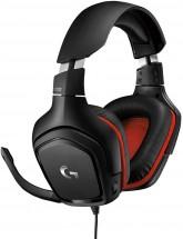 Headset Logitech G332, herní, černá/červená