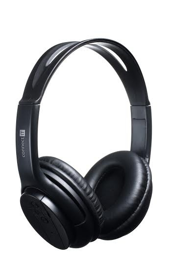 Headset, náhlavní souprava Connect IT Bluetooth stereo sluchátka s mikrofonem, černá ROZBALE