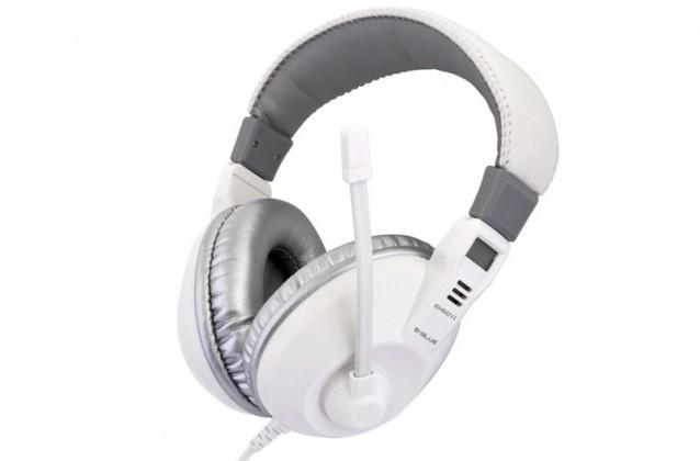Headset, náhlavní souprava E-Blue, Conqueror I., sluchátka s mikrofonem,bílá, 3.5mm konektor