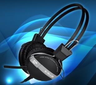 Headset, náhlavní souprava E-Blue, Eternal-Y, sluchátka s mikrofonem, černá, 3.5mm konektor