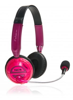 Headset, náhlavní souprava NGS headset MSX6 PRO FUCHSIA