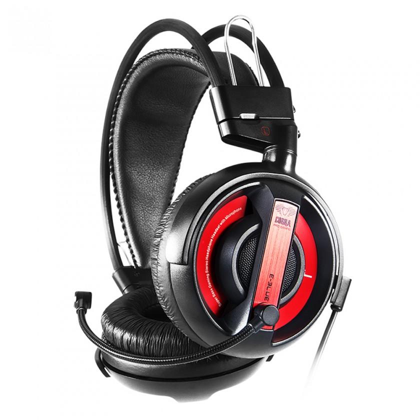 Herní E-Blue Cobra I,herní sluchátka s mikrofonem,černá (EHS013RE)
