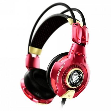 Herní E-Blue herní sluchátka s mikrofonem, IRON MAN 3, červená