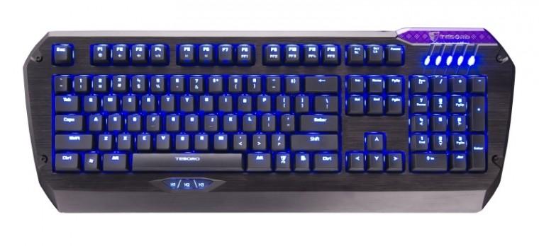 Herní klávesnice C-TECH KB-9140 USB CZ+SK, černá-stříbrná
