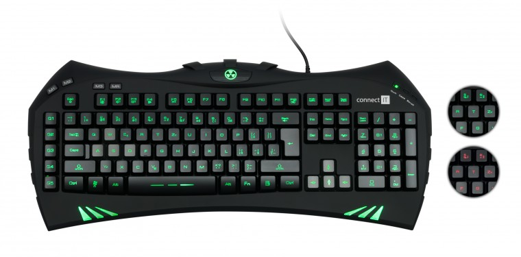 Herní klávesnice Connect IT Battle Keyboard CI-147 USB CZ, černá