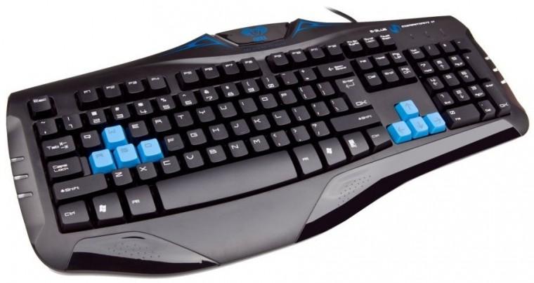 Herní klávesnice E-BLUE Cobra EKM057BK USB CZ+SK, černá