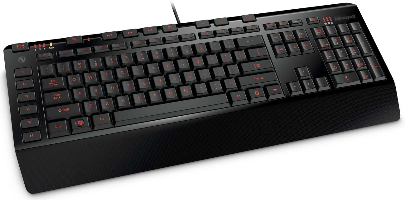 Herní klávesnice Microsoft SideWinder X4 USB CZ, černá