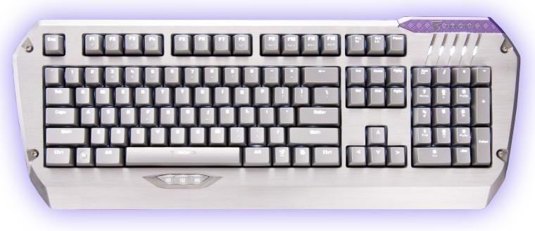 Herní klávesnice Tesoro Colada Saint Cherry MX Brown USB CZ+SK, hnědá
