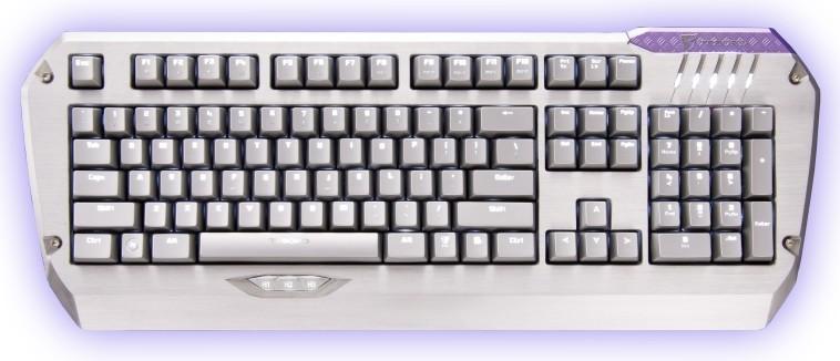 Herní klávesnice Tesoro Colada Saint Cherry MX Red USB CZ+SK, červená