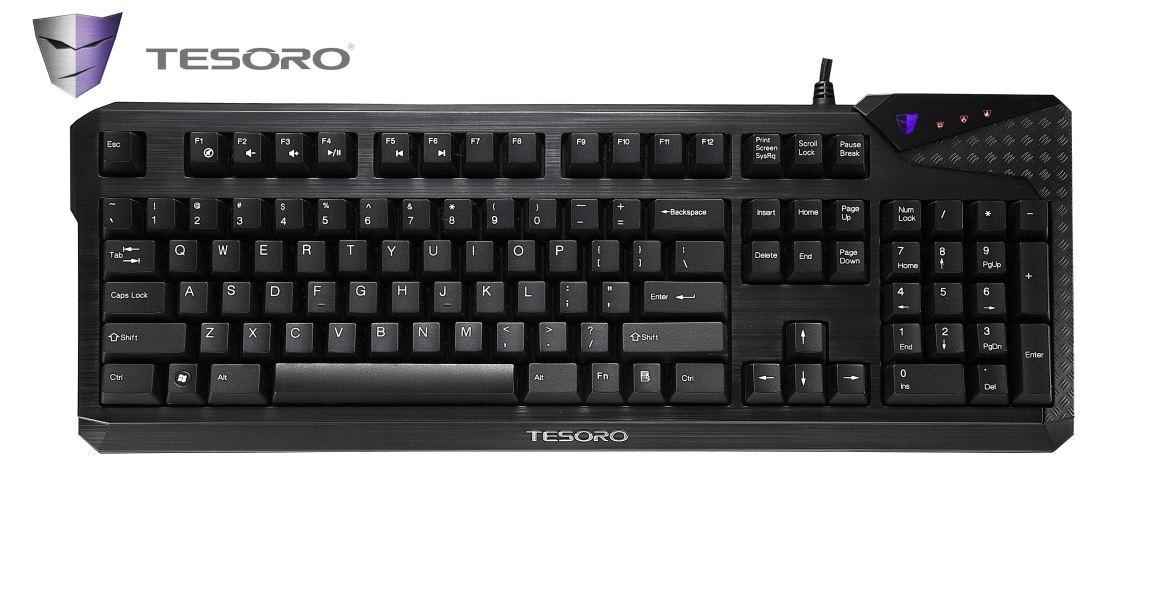 Herní klávesnice Tesoro Durandal Cherry MX Brown USB CZ+SK, hnědá