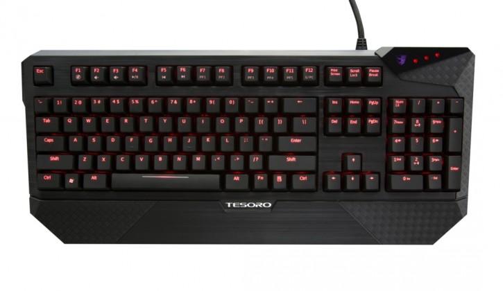Herní klávesnice Tesoro Durandal Ultimate G1NL Cherry MX Brown USB CZ+SK, hnědá