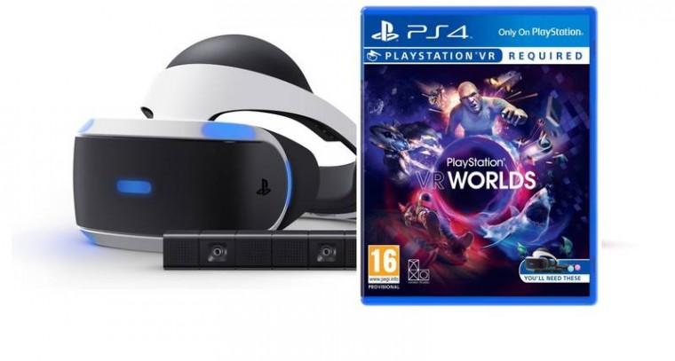 e9b7b1a5d ... NEOP Herní konzole PlayStation 4 PlayStation VR PS4+hra VR Worlds+Kamera  PS719952060 POUŽITÉ,