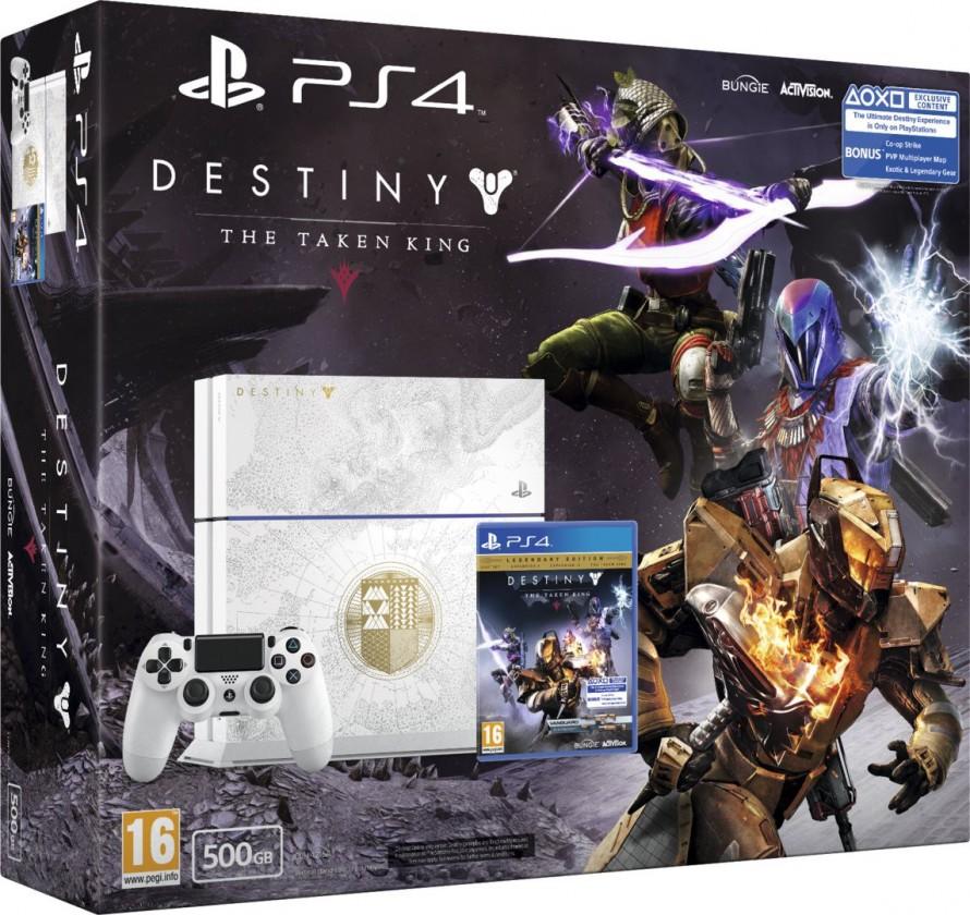 Herní konzole PlayStation 4 SONY PlayStation 4 - 500GB + Destiny: The Taken King SE