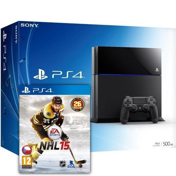 Herní konzole PlayStation 4 SONY PlayStation 4 - 500GB + NHL15
