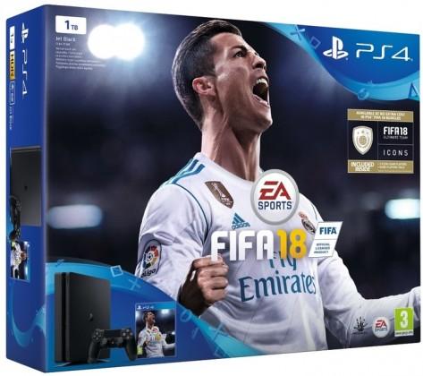 Herní konzole PlayStation 4 Sony PlayStation 4 Slim 1TB + FIFA 18 + PS Plus 14 dní