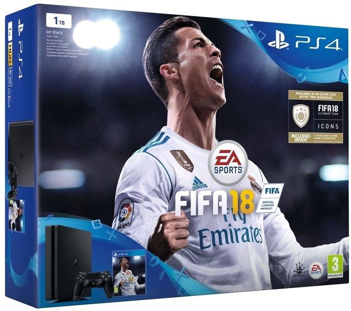 Herní konzole PlayStation 4 Sony PlayStation 4 Slim 1TB + FIFA 18 + PS Plus 14 dní