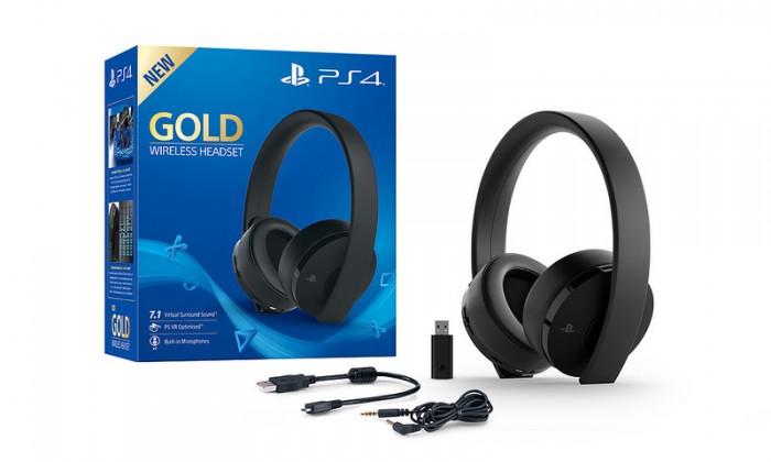 Herní konzole PlayStation 4 SONY PS4 Gold Wireless Headset, černá