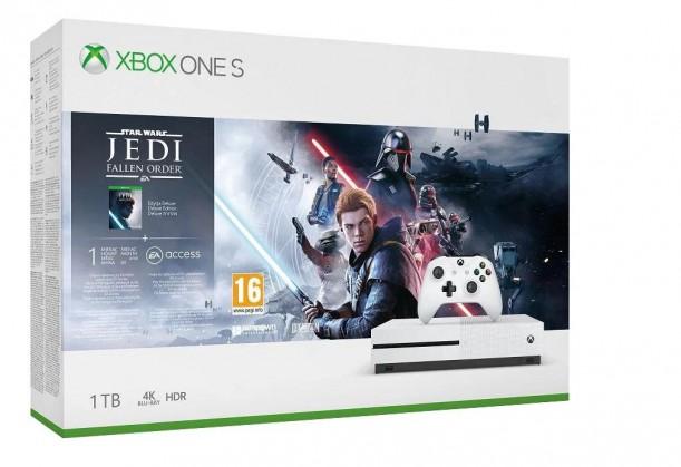 Herní konzole Xbox One Herní konzole Microsoft XBOX ONE S 1TB + SW Jedi: Fallen Order