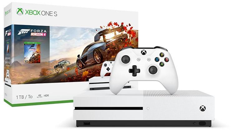 Herní konzole Xbox One XBOX ONE S, 1TB, bílá + Forza Horizon 4 234-00561