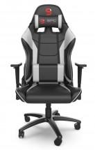 Herní křeslo SPC Gear SR300 V2, černo-bílá