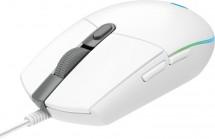 Herní myš LOGITECH G102 LIGHTSYNC, odezva 1 ms, bílá