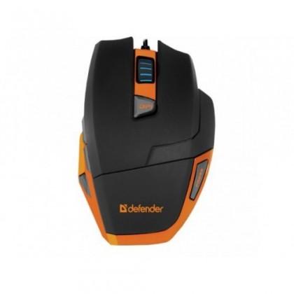 Herní myši Defender Warhead GM-1500, černá-oranžová ROZBALENO