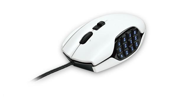 Herní myši Logitech G600 MMO Gaming Mouse, bílá
