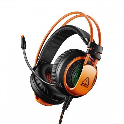 Herní sluchátka Canyon CND-SGHS5 hráčský headset pro experty, černo-oranžová