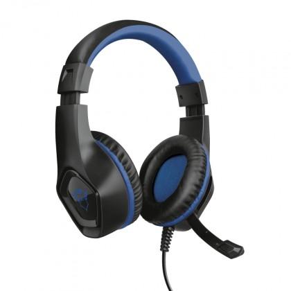 Herní sluchátka Herní headset Trust GXT 404B Rana, pro PS4, černo-modrá