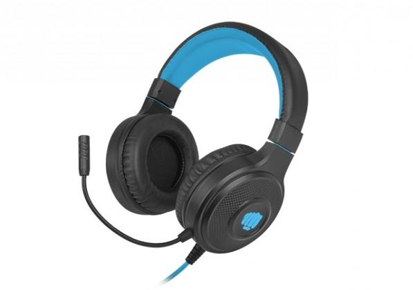 Herní sluchátka Herní stereo sluchátka FURY Warhawk, RGB, černá