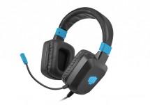 Herní stereo sluchátka FURY Raptor, RGB, černá