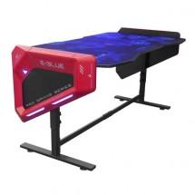 Herní stůl E-Blue EGT003BK, RGB podsvícení, výškově nastavitelný + ZDARMA podložka pod myš a hub
