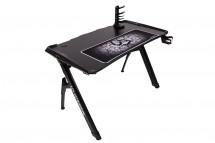 Herní stůl ULTRADESK INVADER - BLACK, podsvícený
