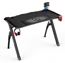 Herní stůl ULTRADESK INVADER - RED UDESK-IN-RD + ZDARMA podložka pod myš a hub
