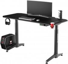 Herní stůl ULTRADESK LEVEL BLACK UDESK-LVA-BB + ZDARMA podložka pod myš a hub