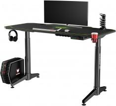 Herní stůl ULTRADESK LEVEL GREEN UDESK-LVA-GN + ZDARMA podložka pod myš a hub