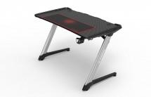 Herní stůl ULTRADESK RACER, RGB podsvícení, háky pro sluchátka