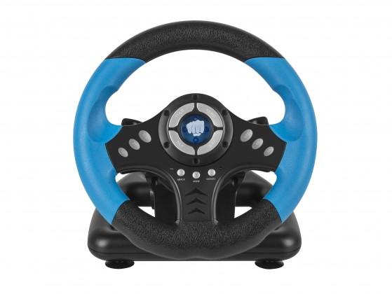 Herní volant FURY Skipper PC, černá/modrá
