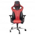 Herní židle E-Blue COBRA, červená VADA VZHLEDU, ODĚRKY