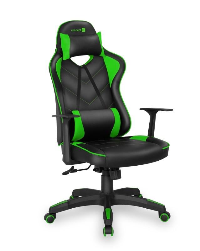 Herní židle Herní křeslo Connect IT LeMans Pro zelené CGC-0700-GR