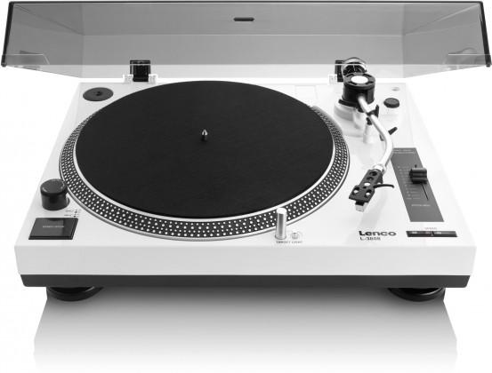 Hi-Fi gramofony Gramofon Lenco L-3808, bílý