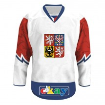 Hokej. dres ČR, znak, bílý