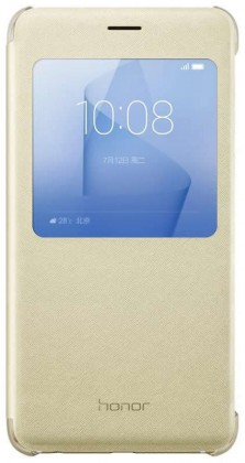Honor 8 Smart Cover - S-View flip pouzdro, Gold