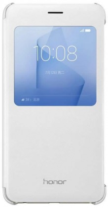 Honor 8 Smart Cover - S-View flip pouzdro, White