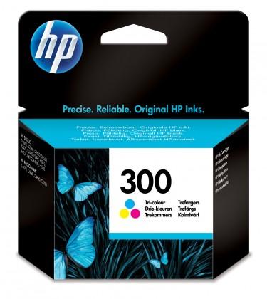 HP 300, tříbarevná (CC643EE) - originální