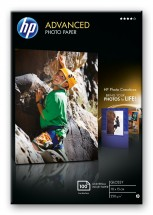 HP Advanced Glossy Photo Paper-100 sht/10 x 15 cm borderless,  25