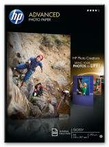 HP Advanced Glossy Photo Paper-50 sht/A4/210 x 297 mm,  250 g/m2,